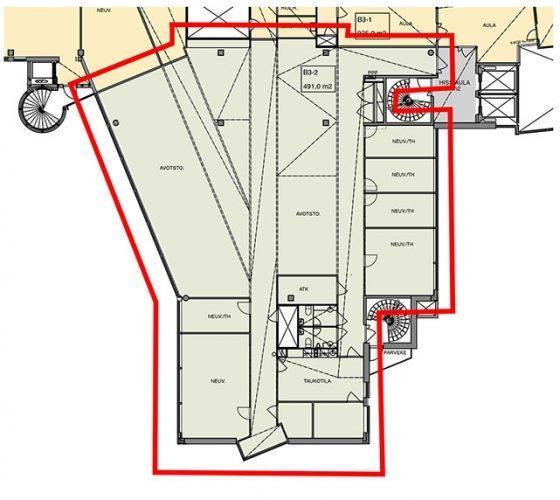 Huopalahdentie 24 B-talo, 491m2, 3. kerros, Toimistotila