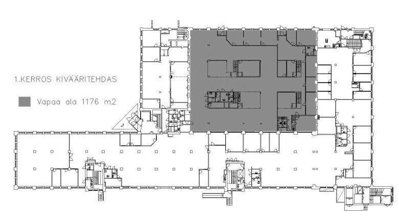 Kivääritehtaankatu 6 JYVÄSKYLÄ, 1176m2, Katutaso, Toimistotila