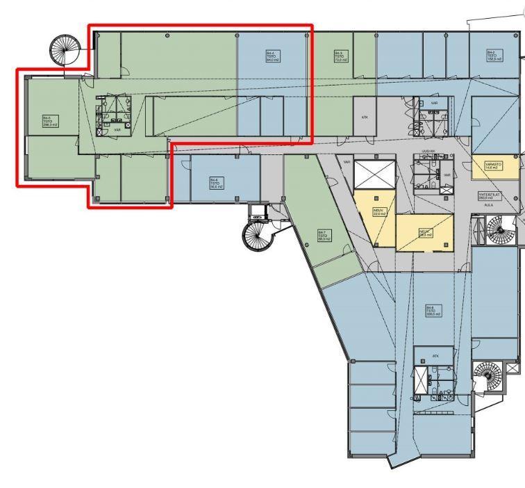Huopalahdentie 24 B-talo, 382m2, 4. kerros, Toimistotila