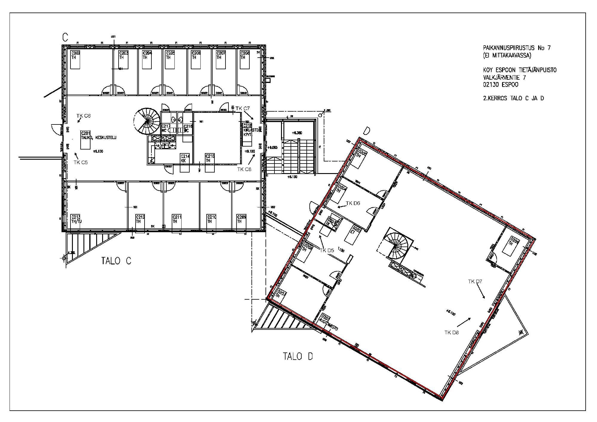 Valkjärventie 7 D-talo, 423m2, Useita kerroksia, Toimistotila