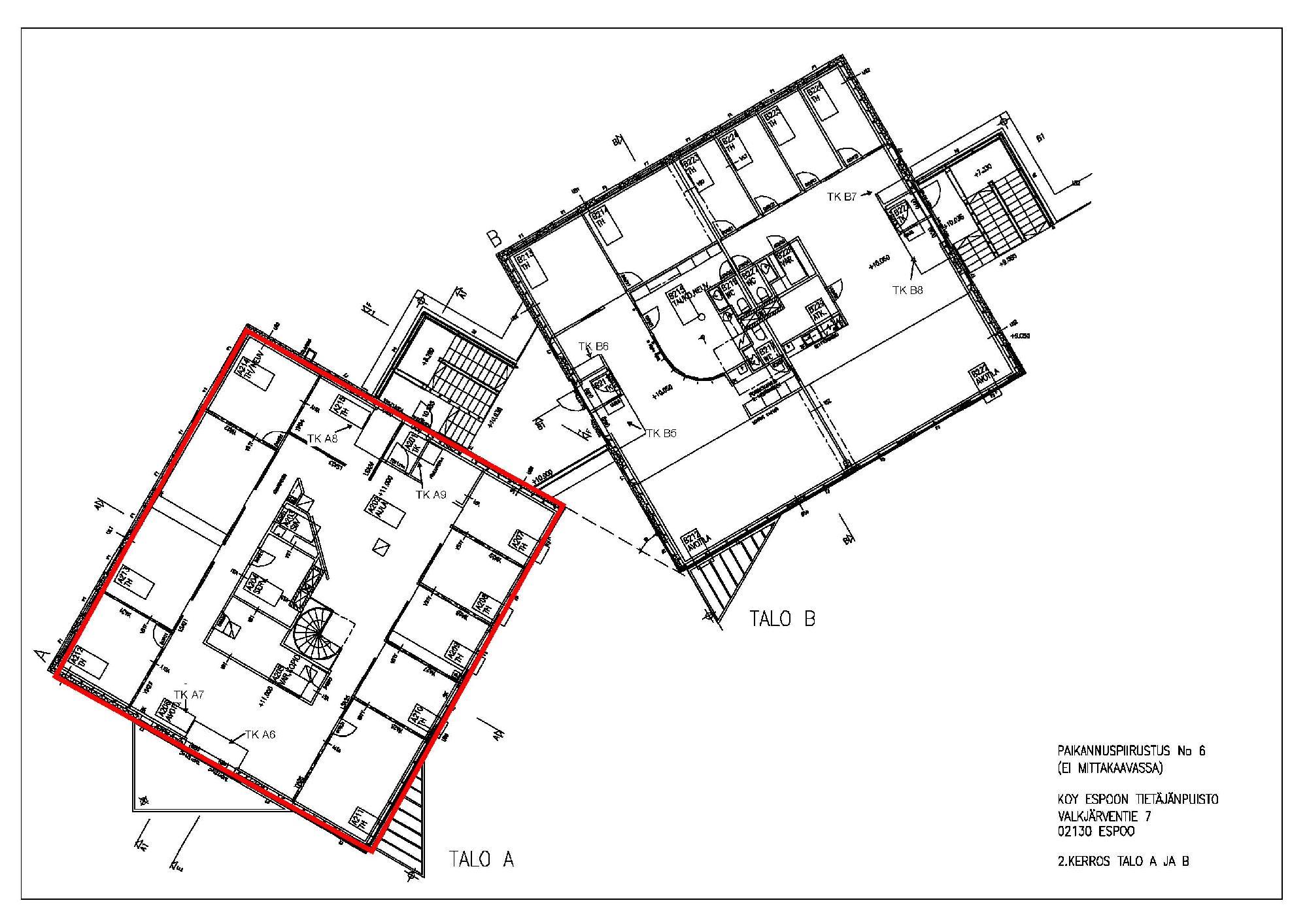 Valkjärventie 7 A-talo, 423m2, Useita kerroksia, Toimistotila