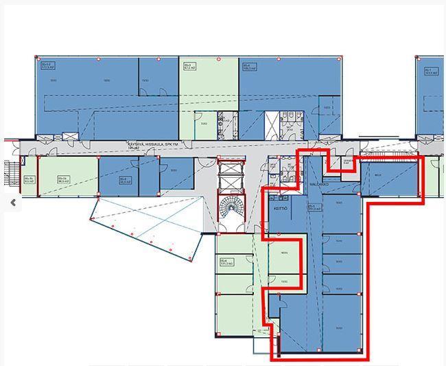 Linnoitustie 4 B, 283m2, 5. kerros, Toimistotila