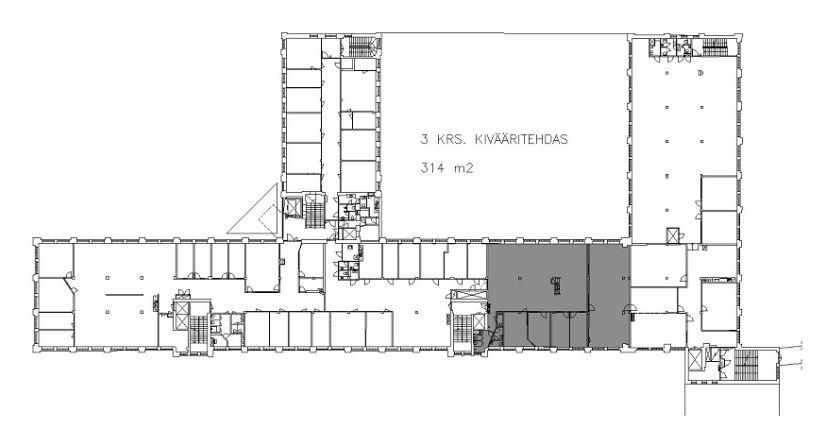 Kivääritehtaankatu 6 JYVÄSKYLÄ, 314m2, 3. kerros, Toimistotila