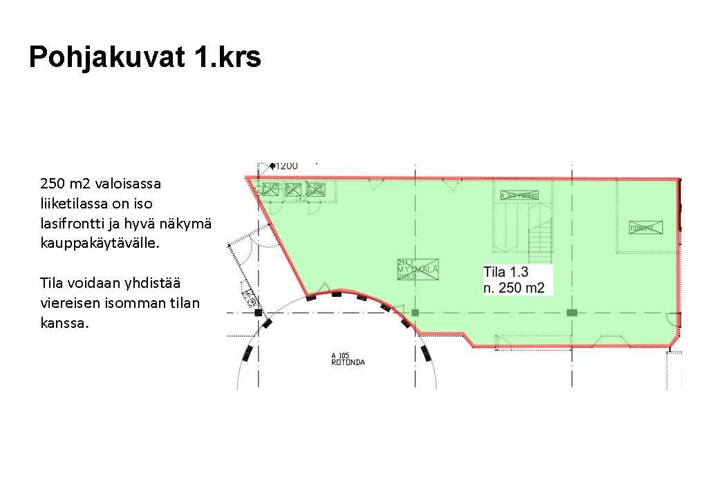 Tainionkoskentie 68 IMATRA, 1380m2, Katutaso, Liiketila
