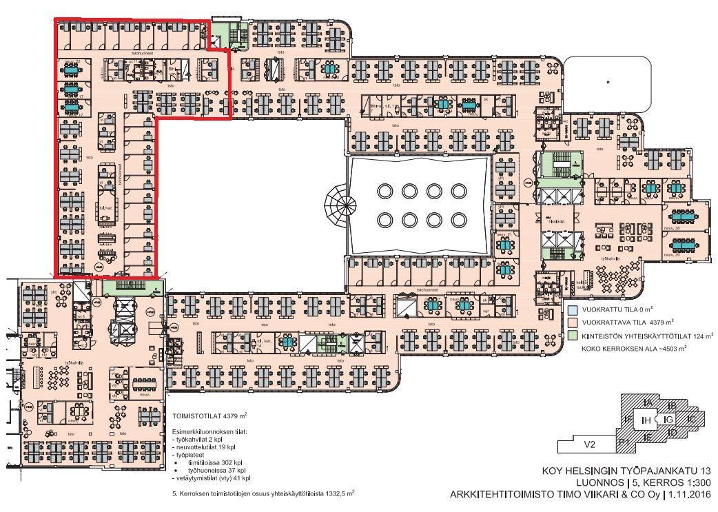 Työpajankatu 13, 891m2, 5. kerros, Toimistotila
