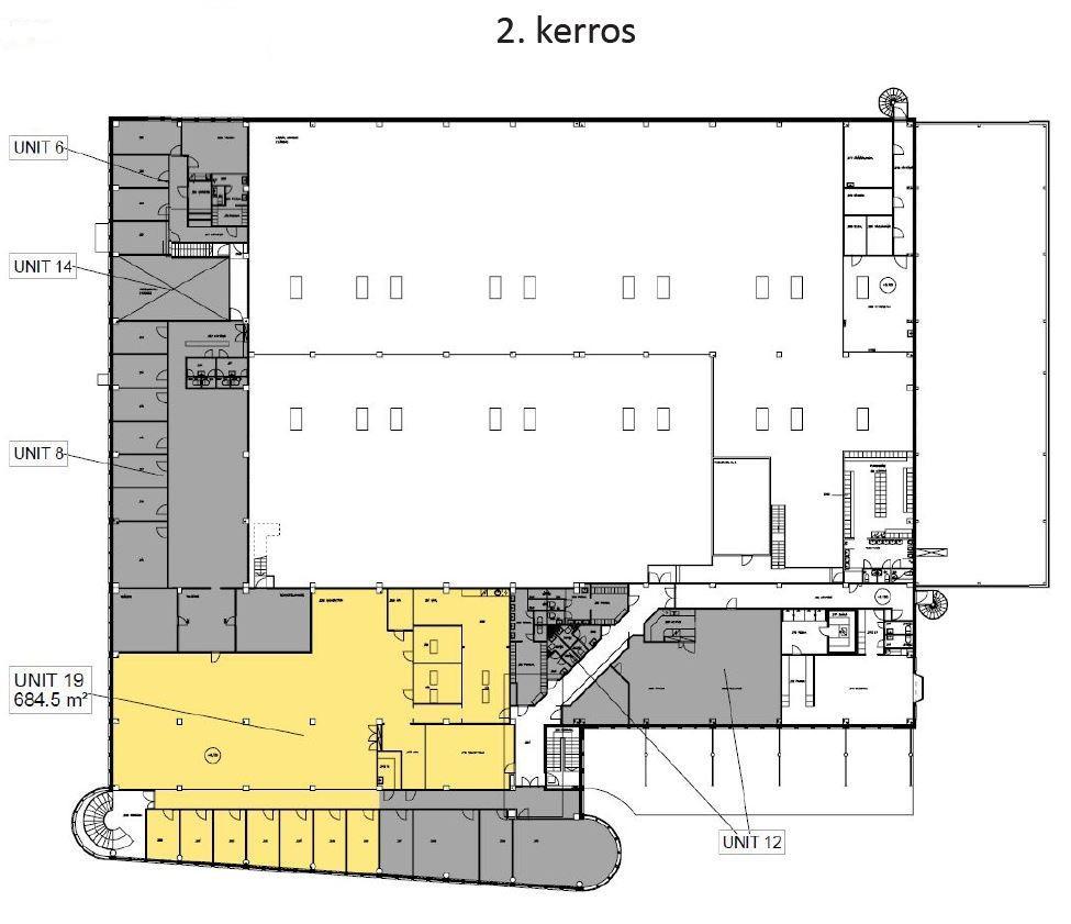Hevoshaankatu 3 PORI, 684m2, 2. kerros, Toimistotila