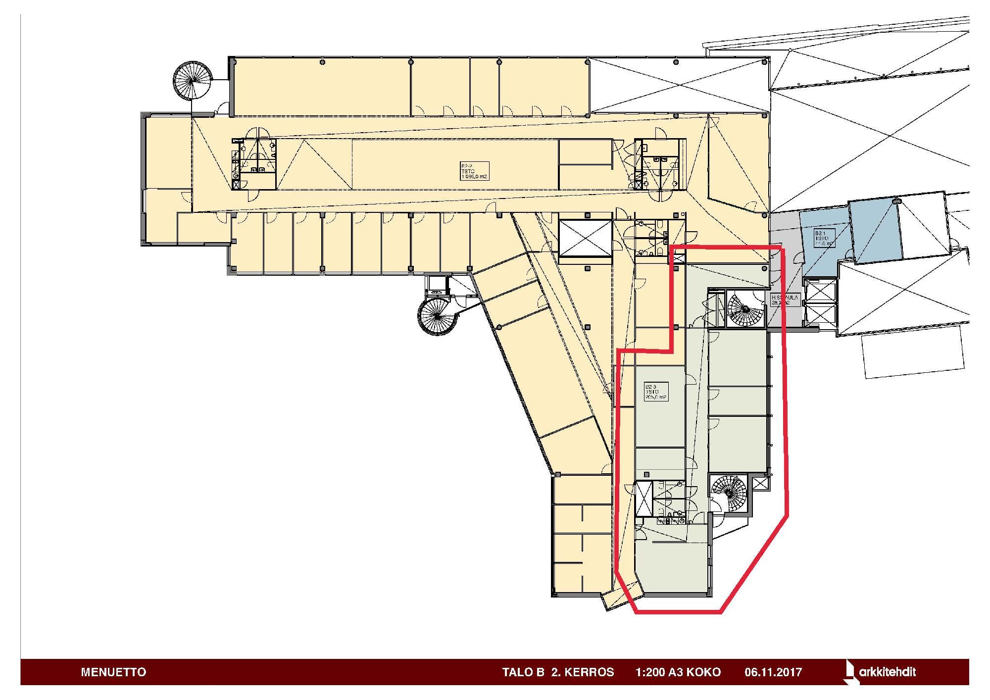 Huopalahdentie 24 B-talo, 205m2, 2. kerros, Toimistotila