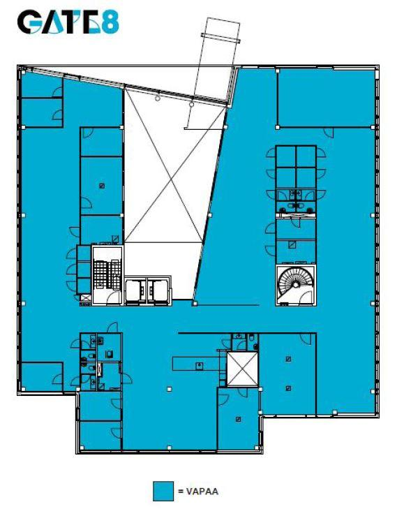 Äyritie 8 D LARGO, 840m2, 6. kerros, Toimistotila