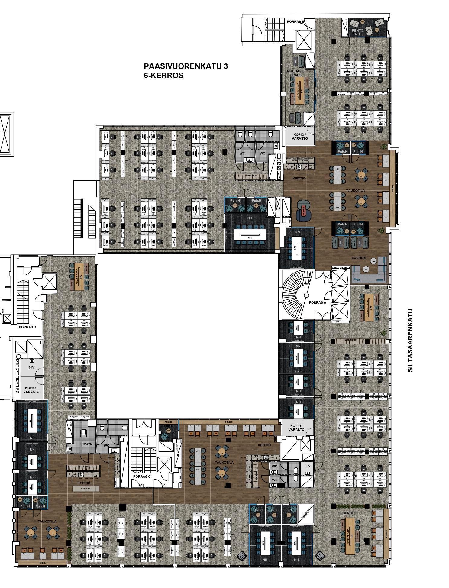 Siltasaarenkatu 12, 1359m2, 7. kerros, Toimistotila