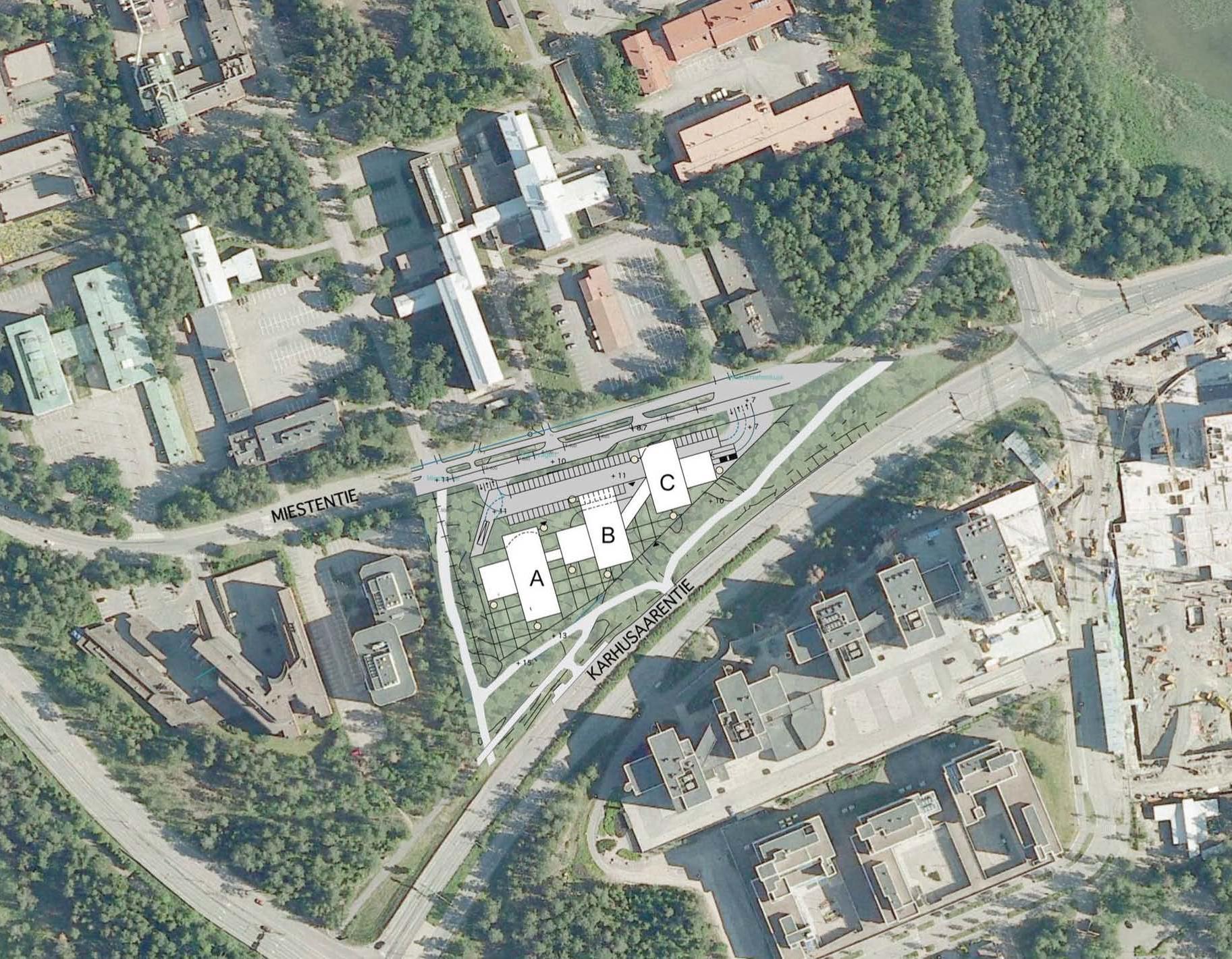 Miestentie 7 B-talo, 215m2, 3. kerros, Toimistotila