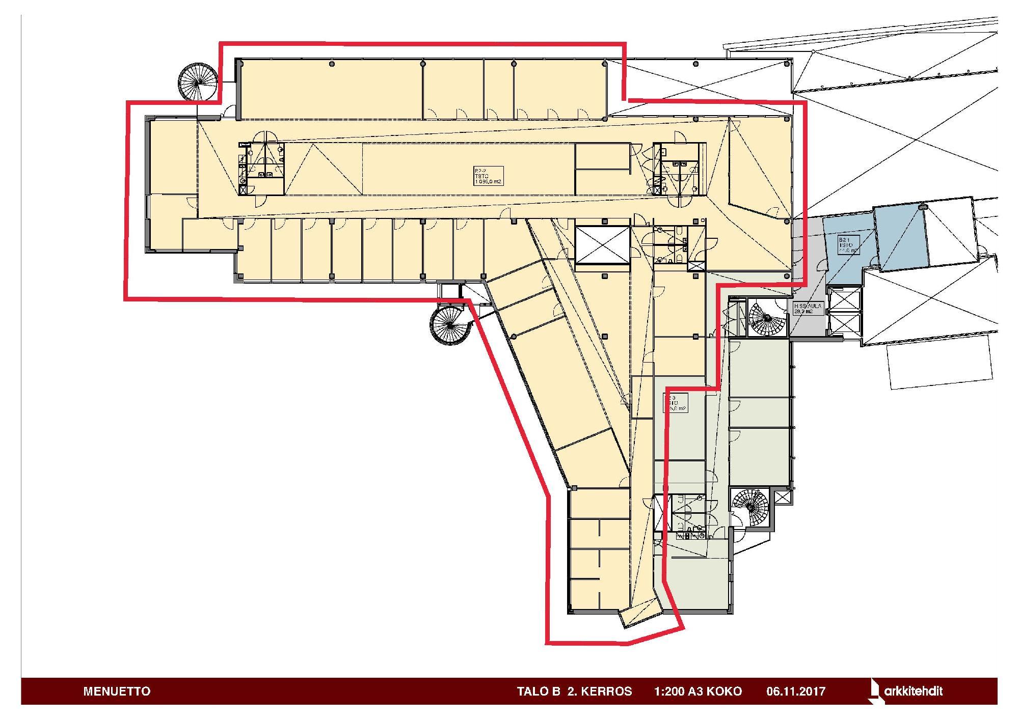 Huopalahdentie 24 B-talo, 1089m2, 2. kerros, Toimistotila