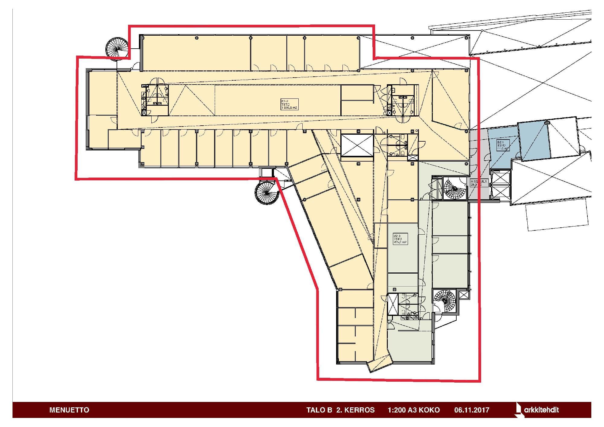 Huopalahdentie 24 B-talo, 1294m2, 2. kerros, Toimistotila