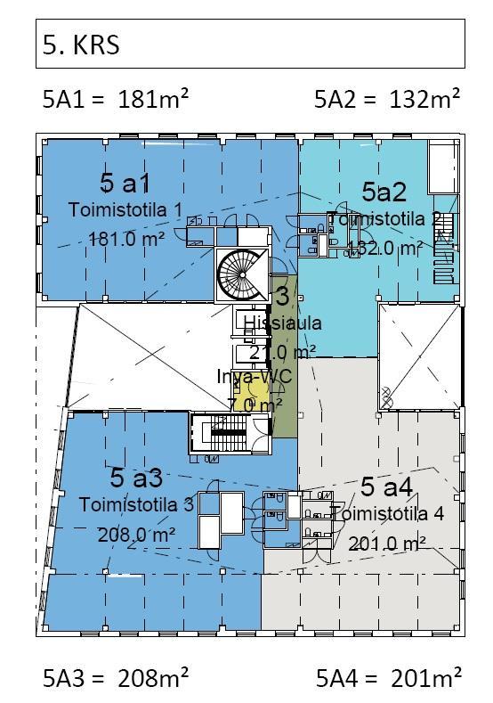 Mannerheimintie 113 VIVALDI, 747m2, 5. kerros, Toimistotila