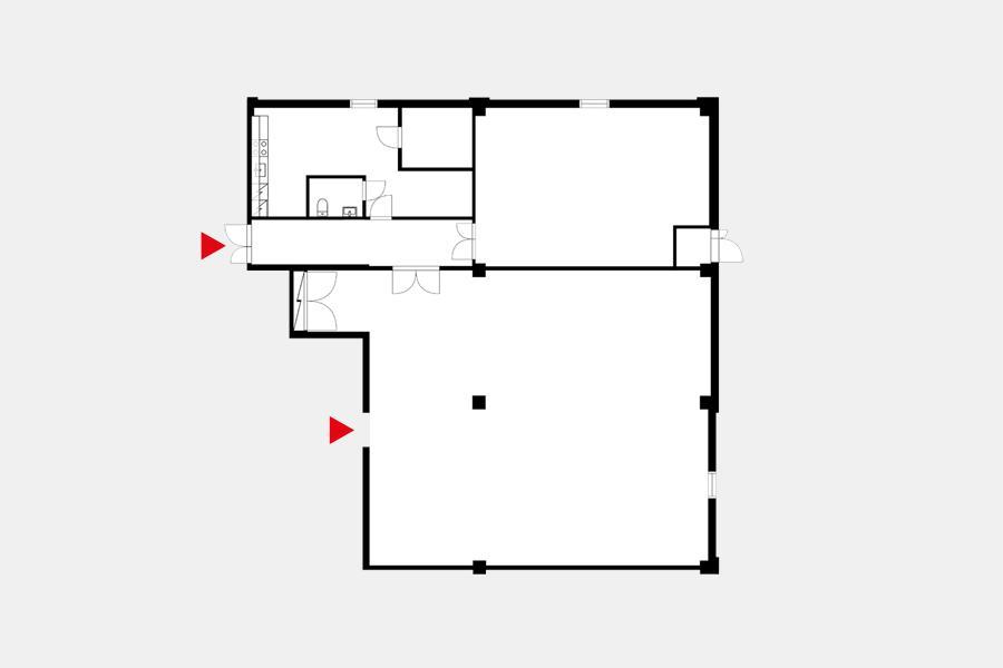 Pihatörmä 1 D, 235m2, Katutaso, Liiketila