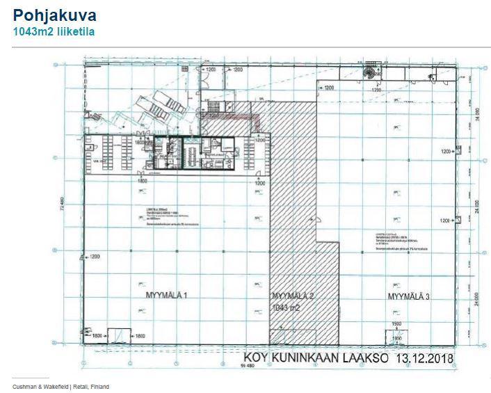 Itäniityntie 11 RAISIO, 1043m2, Katutaso, Liiketila