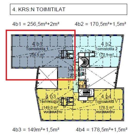 Mannerheimintie 113 VERDI, 260m2, 4. kerros, Toimistotila