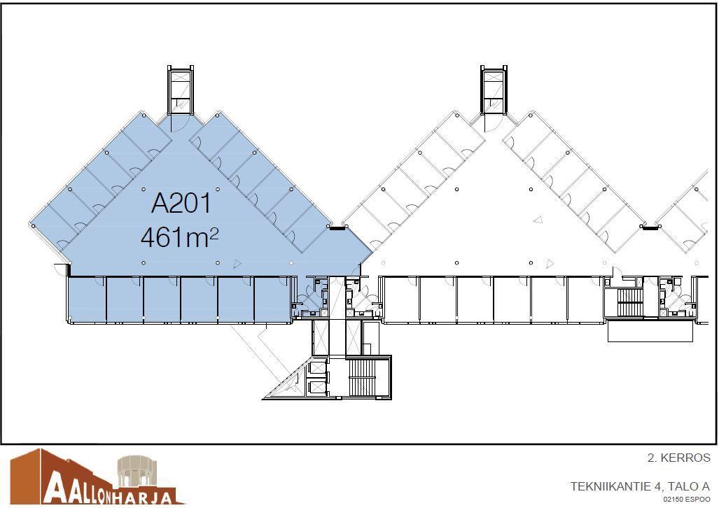 Tekniikantie 4 A, 461m2, 2. kerros, Toimistotila