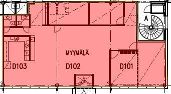 Puutarhatie 24 D-talo, 185m2, katutaso, Liiketila