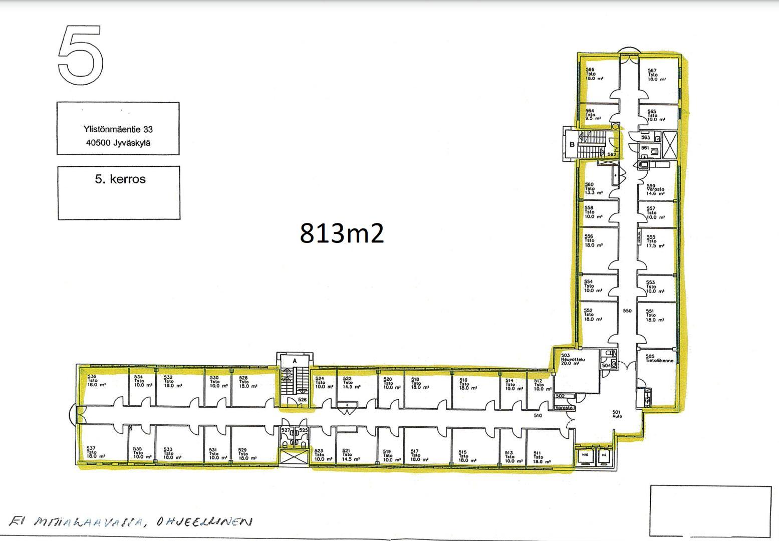 Ylistönmäentie 33 JYVÄSKYLÄ, 813m2, 5. kerros, Toimistotila
