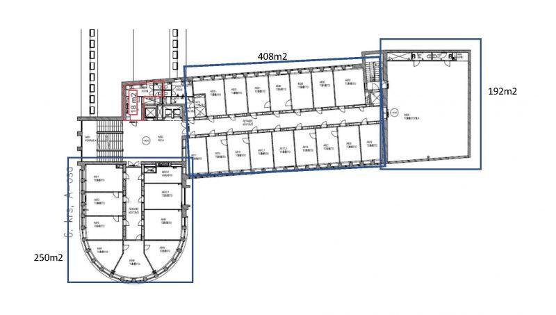 Hämeentie 19 A-osa, 250m2, 6. kerros, Toimistotila