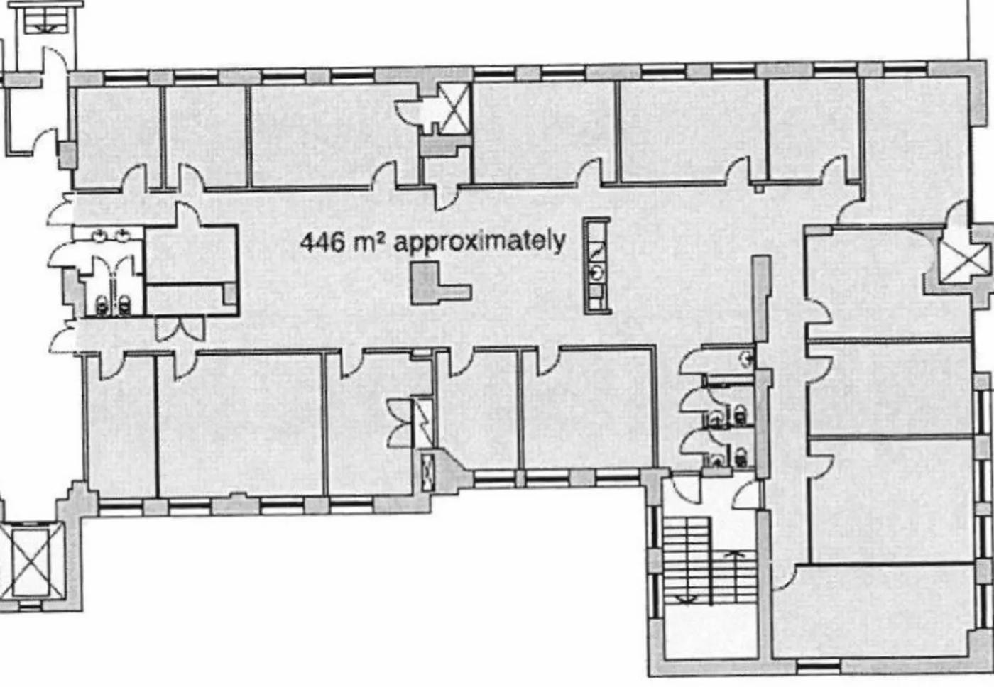 Hämeentie 13 A, 446m2, 2. kerros, Toimistotila