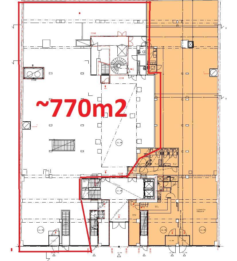 Iso Roobertinkatu 4-6, 770m2, Katutaso, Liiketila