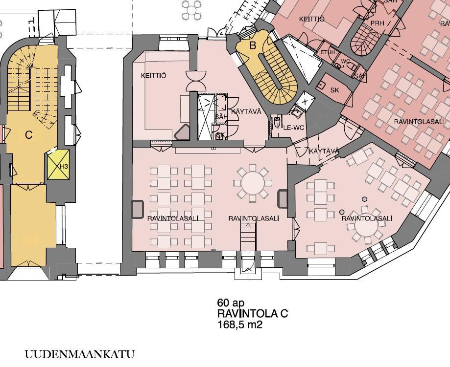 Erottajankatu 2, 169m2, Katutaso, Liiketila