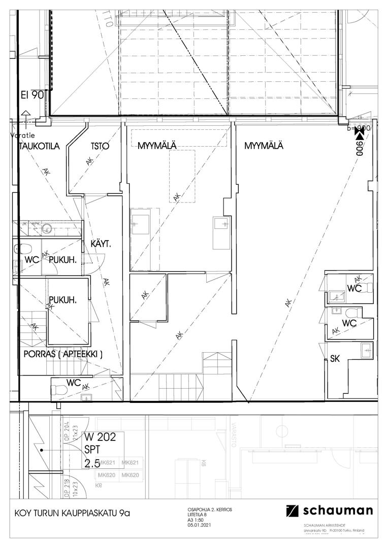 Kauppiaskatu 9 TURKU, 129m2, Useita kerroksia, Liiketila