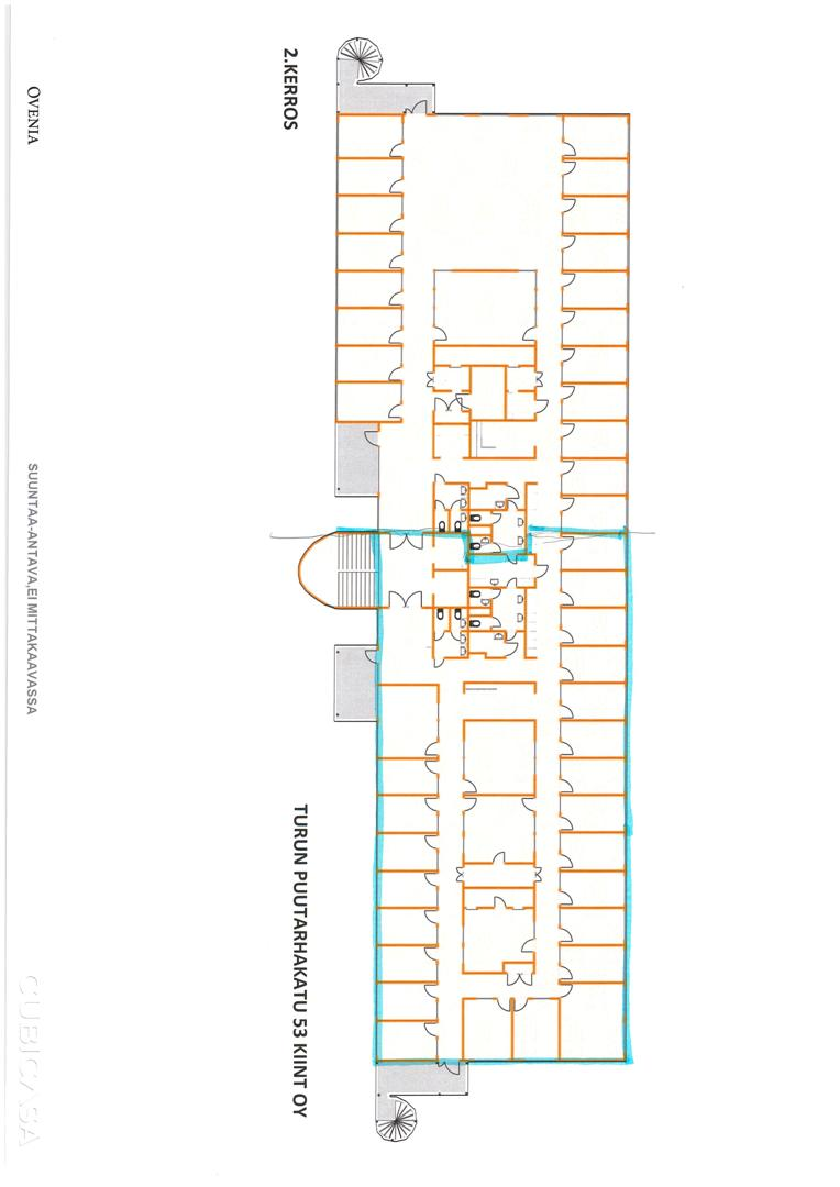 Puutarhakatu 53 TURKU, 450m2, 2. kerros, Toimistotila