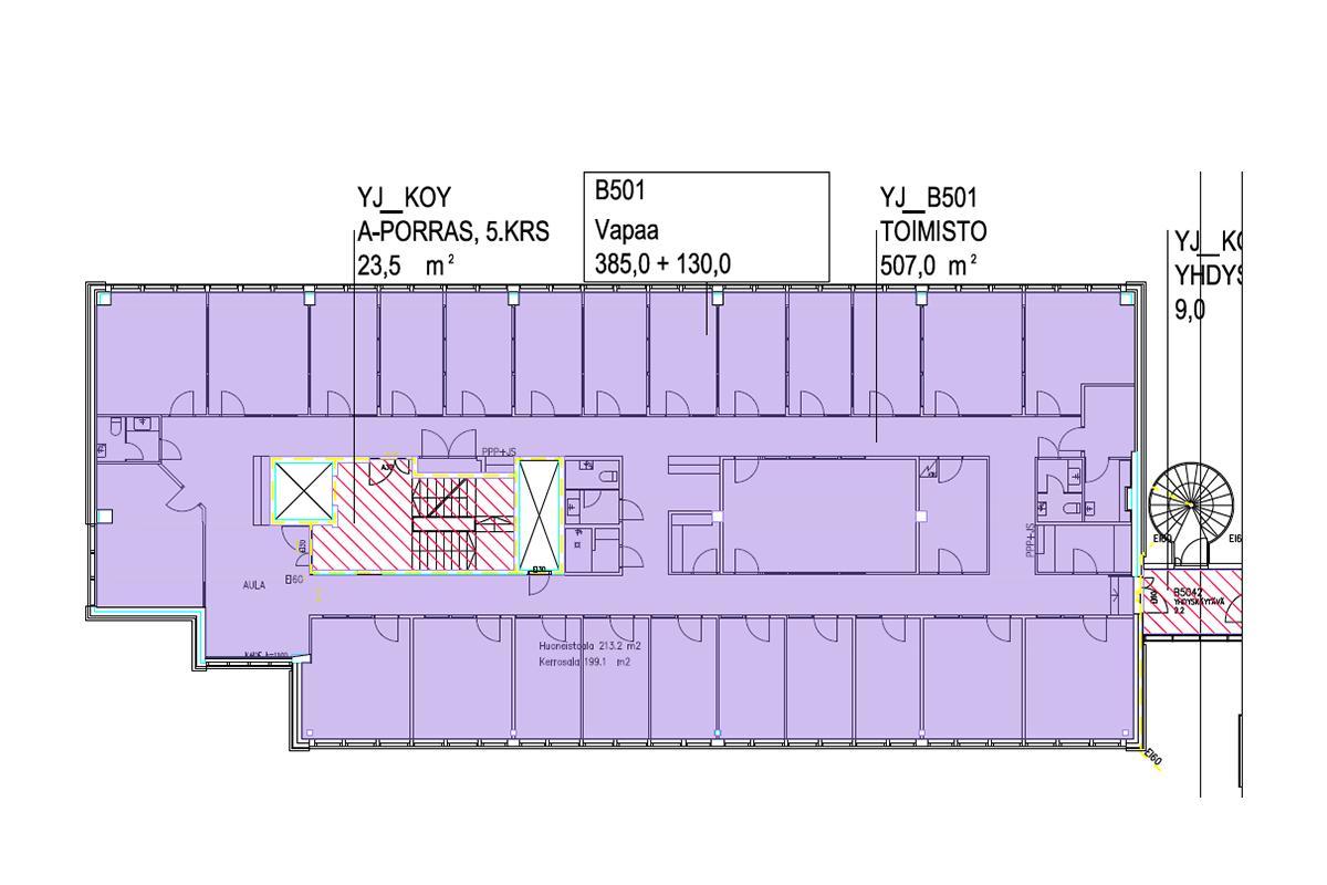 Lintuvaarantie 2, 510m2, 5. kerros, Toimistotila