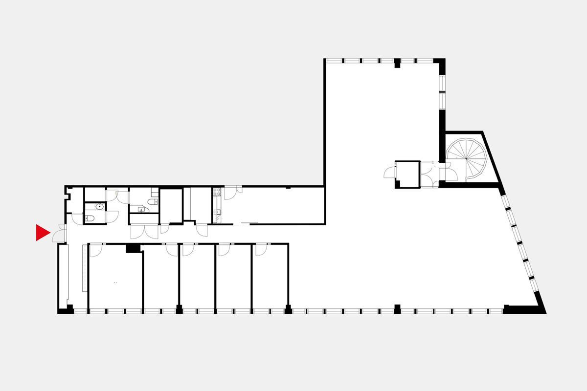 Kalevantie 2 A TAMPERE, 379m2, 3. kerros, Toimistotila