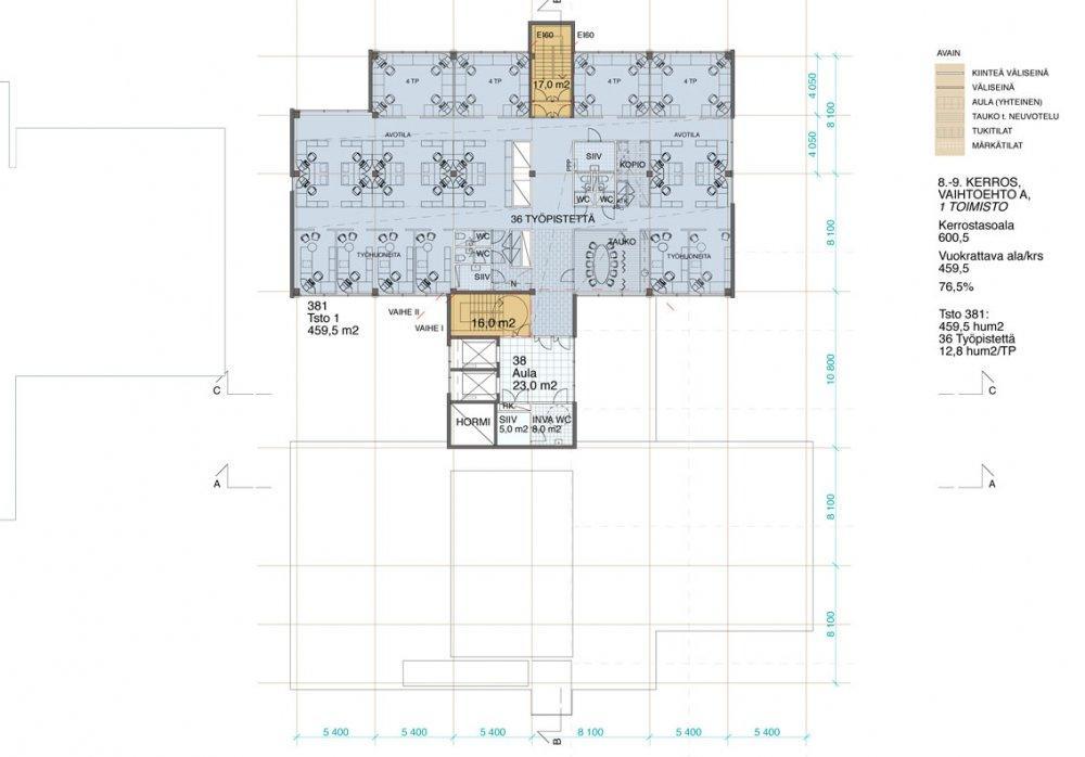 Klovinpellontie 3 III-vaihe, 7410m2, Useita kerroksia, Toimistotila