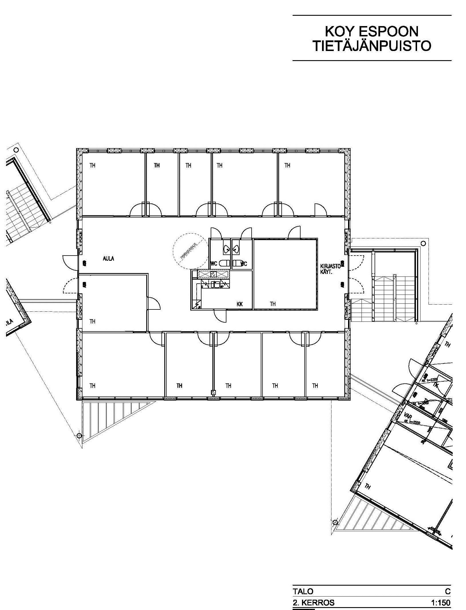Valkjärventie 7 C-talo, 282m2, 2. kerros, Toimistotila