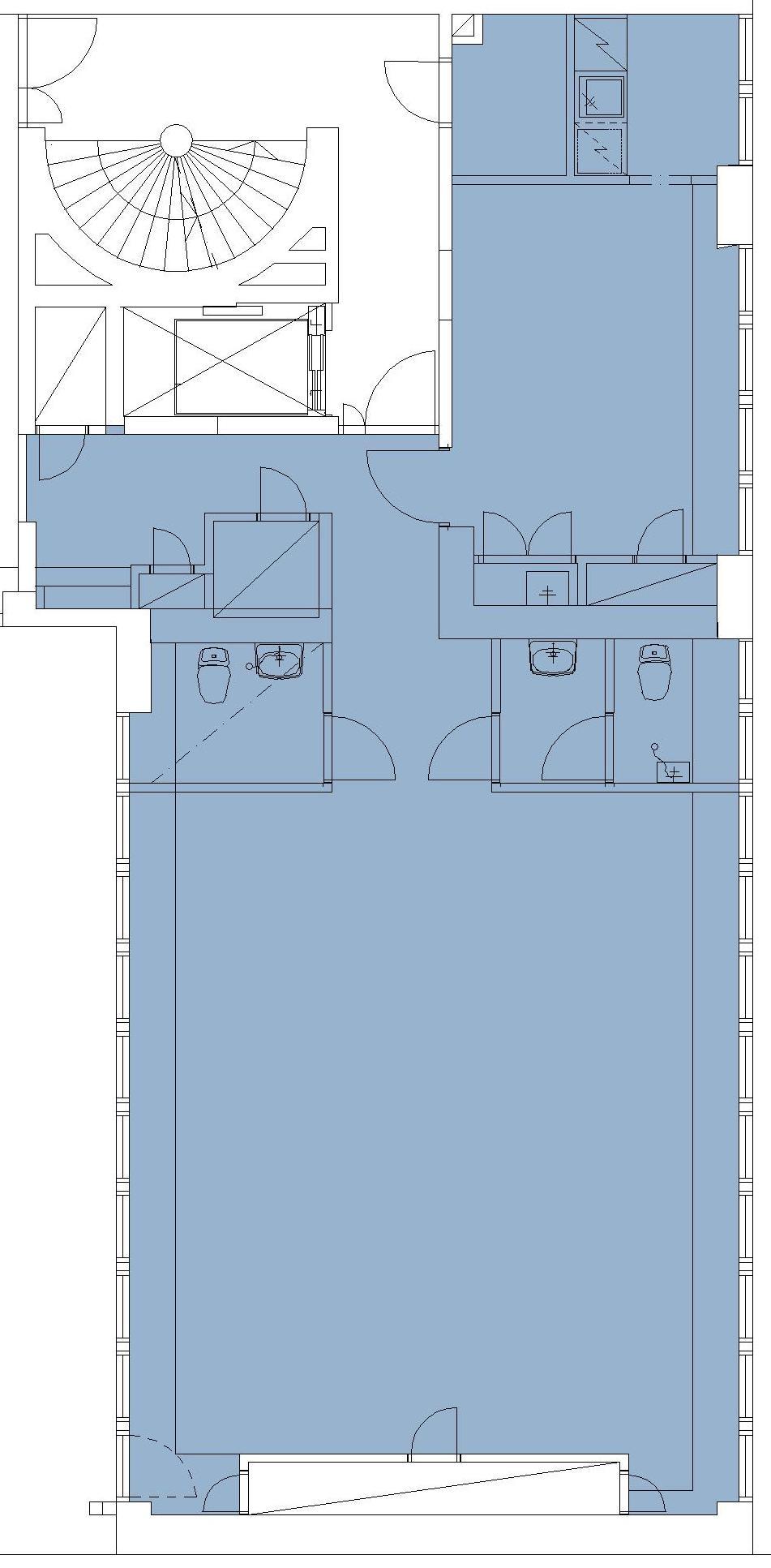 Iso Roobertinkatu 21-25, 105m2, 2. kerros, Toimistotila